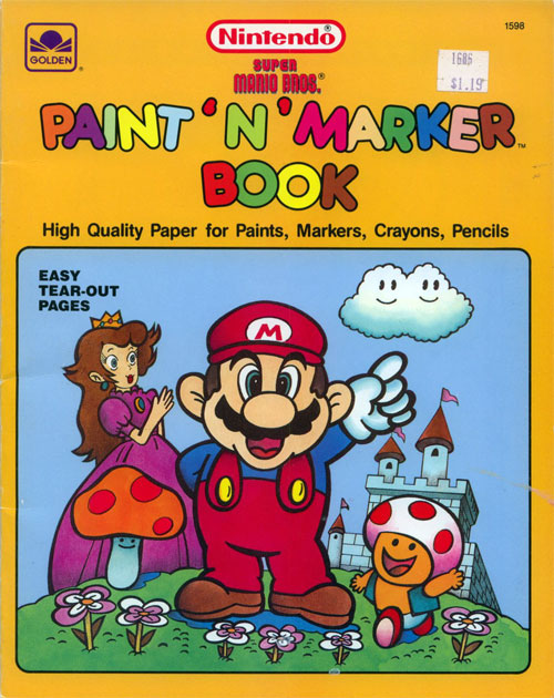 Super Mario Bros. (Paint & Marker; 1989) Golden Books