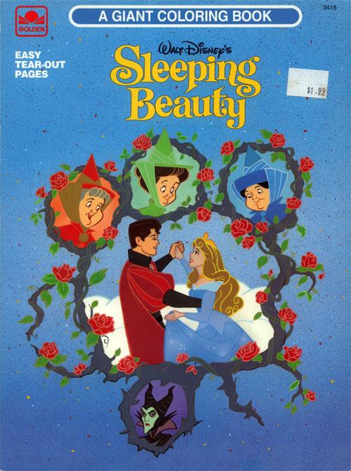 Sleeping Beauty (Coloring Book; 1993) Golden Books