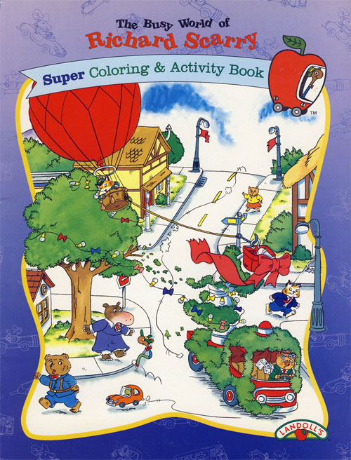 Busy World of Richard Scarry (Coloring and Activity Book; 1997) Landoll's