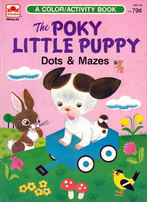 Poky Little Puppy (Dots & Mazes; 1985) Golden Books