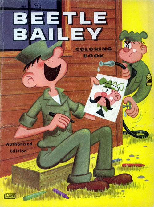Beetle Bailey (Coloring Book; 1961) Lowe