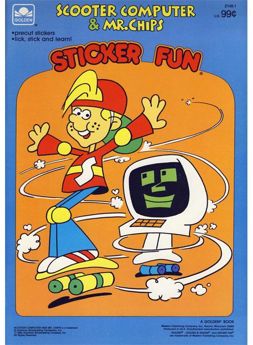 Scooter Computer (Sticker Fun; 1985) Golden Books