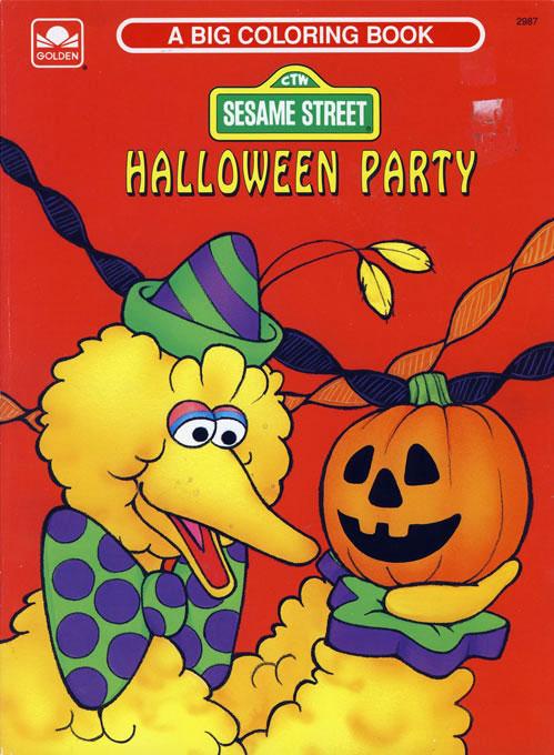 Sesame Street (Halloween Party; 1991) Golden Books