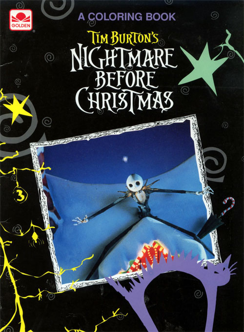 Nightmare Before Christmas (1993; Coloring Book) Golden Books