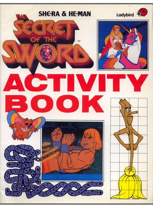 He-man & She-Ra: Secret of the Sword Activity Book (1985) Ladybird