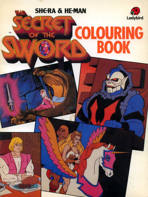He-man & She-Ra: Secret of the Sword Colouring Book (1985) Ladybird