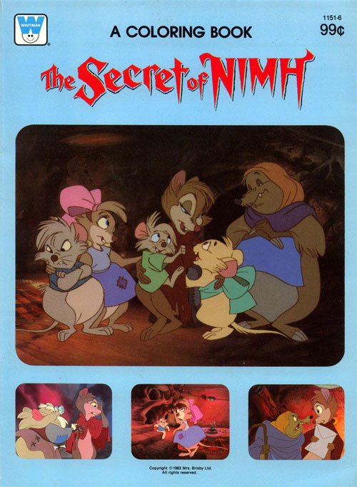Secret of NIMH Coloring Book (1982) Whitman