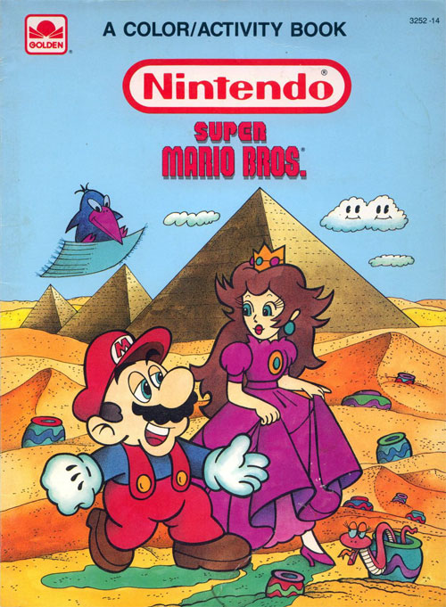 Super Mario Bros. (Coloring & Activity; 1989) Golden Books