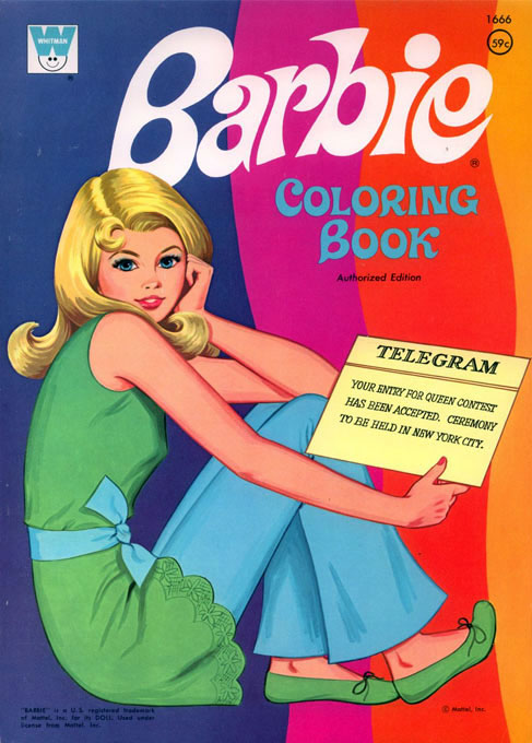 Barbie (Coloring Book; 1972) Whitman