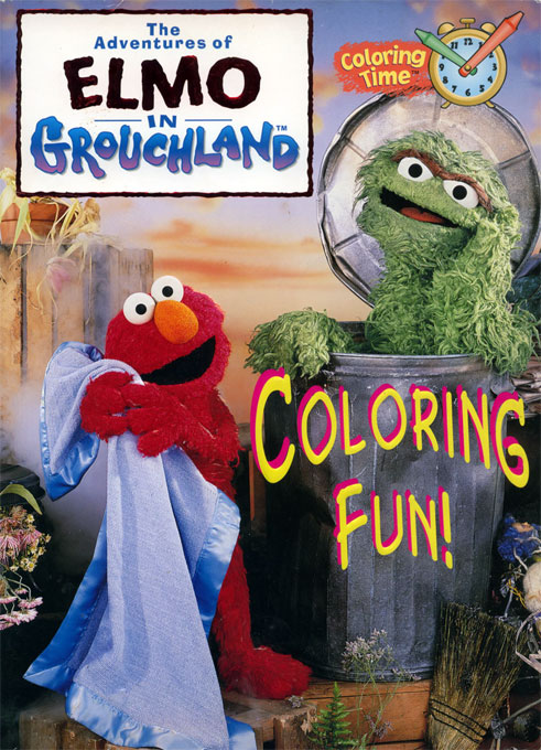 Adventures of Elmo in Grouchland (Coloring Fun; 1999) Random House