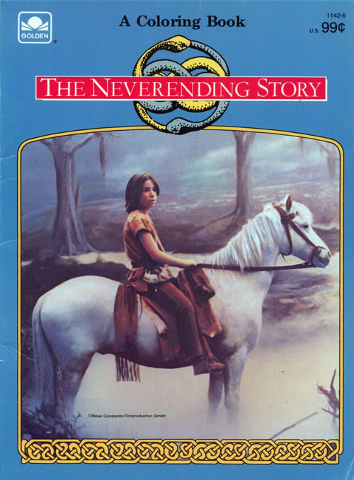 The Neverending Story (Coloring Book; 1984) Golden Books