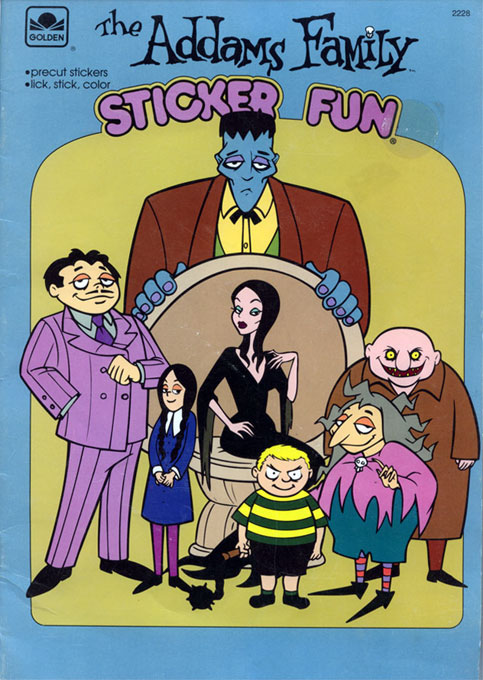 Addams Family (Sticker; 1993) Golden